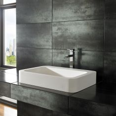 Kole Pure White Solid Surface Basin