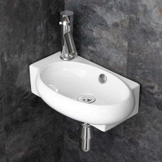 £39 VALUE RANGE Narrow Cloakroom Left Hand Basin | Free Delivery | LECCE L