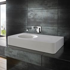 Maze Pure White Solid Surface Basin