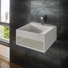 Mexa Pure White Solid Surface Basin