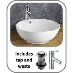 Nord Round Basin + Tap + Waste