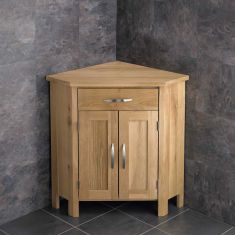 Ohio Solid Oak Corner Bathroom Cabinet