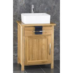 Ohio Solid Oak Bathroom Cabinet With Basin