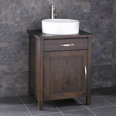 Ohio Solid Oak Wenge Bathroom Cabinet With Basin