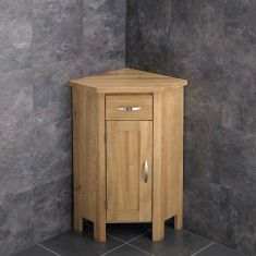 Ohio Corner Oak Cabinet With Basin