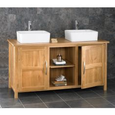 Ohio Solid Oak Double Basin Cabinet