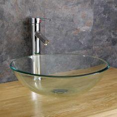 Ferrara 35cm Clear Round Basin