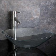 Terme 39cm Clear Square Basin