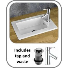 Parla Inset Basin + Tap + Waste Set