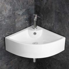 Large Prato Wall Mounted Corner Bathroom Basin