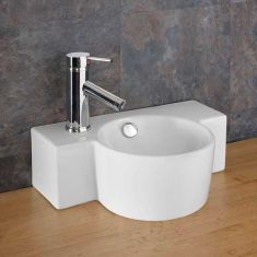 Space Saving Counter Top Small Cloakroom Basin 400mm x 280mm RAGUSO