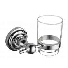 Regent Toothbrush Holder with Frosted Glass Beaker