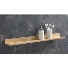 Solid Oak Bathroom Shelf 90cm
