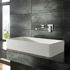 Tora Pure White Solid Surface Basin