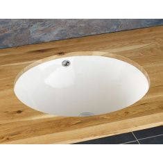 Inset Oval White Undercounter Bathroom Basin 465mm by 380mm TIRSO
