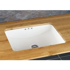 Large Rectangle Undermount White Bathroom Basin 600mm x 420mm POMBAL