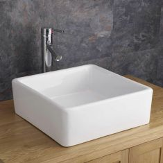 Square Free Standing Counter Mounted Bathroom Washbasin 380mm VARESE