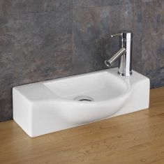 Viterbo Counter Mounted Shaped Basin