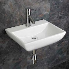 Rectangle Wall Hung White Bathroom Sink 450mm x 350mm MASSA