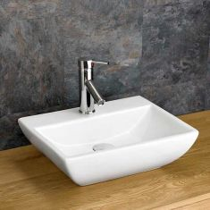 Counter Mounted Rectangular Bathroom Basin 450mm x 350mm MASSA