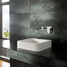 Square White Stone Resin Countertop Bathroom Basin 410mm MINO