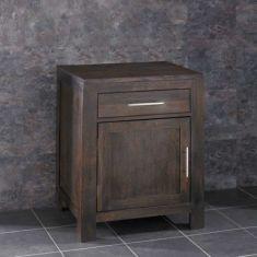 Solid Dark WENGE Oak Single Door Bathroom Basin Cabinet Set ALTA60W