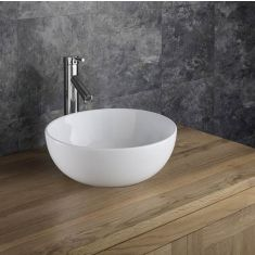 Freestanding Counter Top White Ceramic Round Bathroom Bowl 350mm SELVA