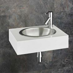 Stark Wall Mounted Ceramic Basin Set