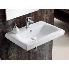 Large Curved Edged Rectangle Bathroom Basin 760mm x 495mm VENA