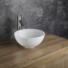Small Round Counter Top 320mm Ceramic White Bathroom Bowl Sink CAMI