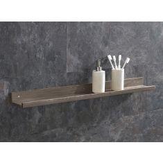 Solid Oak 600mm Long Bathroom Shelf Kit with Fixings
