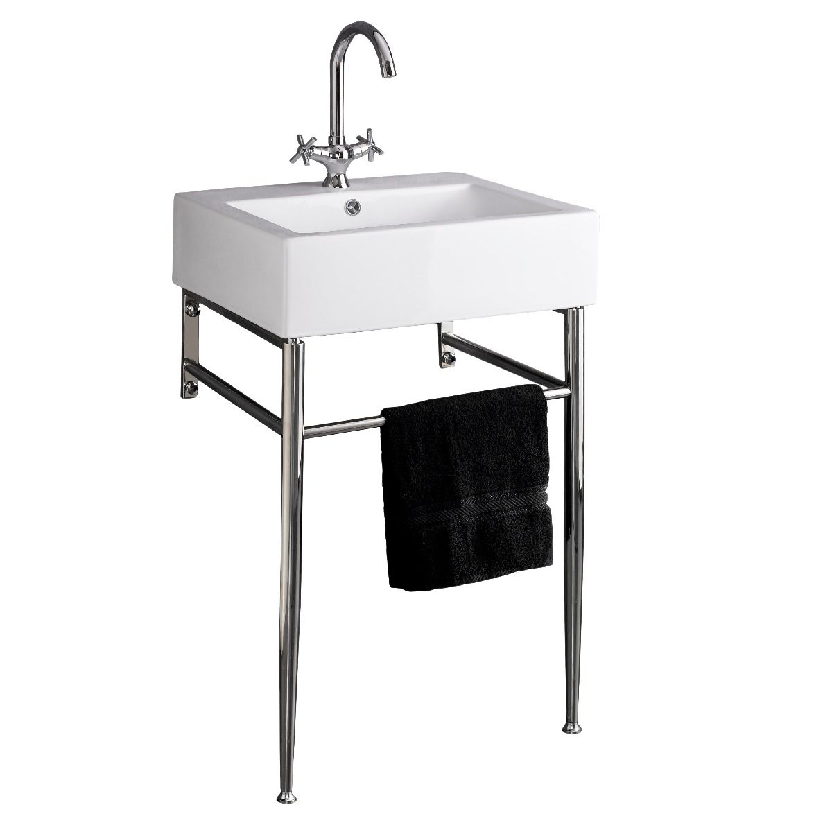Genoa Belfast Style White Bathroom Washbasin Stainless