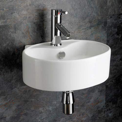 Small 4000mm Wall Mounted Oval Bathroom Basin Bitonto