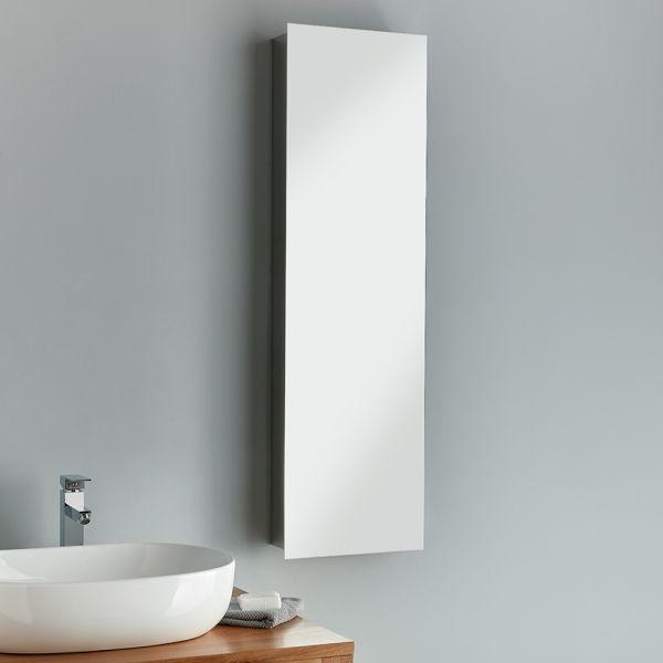 Tall Full Length Mirror Bathroom Cabinet 1200mm High Lille