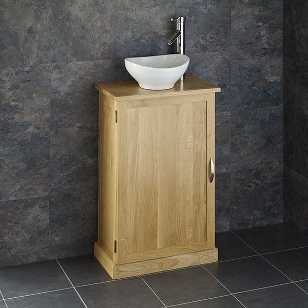 Admirable Slim Narrow Solid Oak Bathroom Vanity Cabinet Oval Sink Set Cube50 Home Remodeling Inspirations Genioncuboardxyz