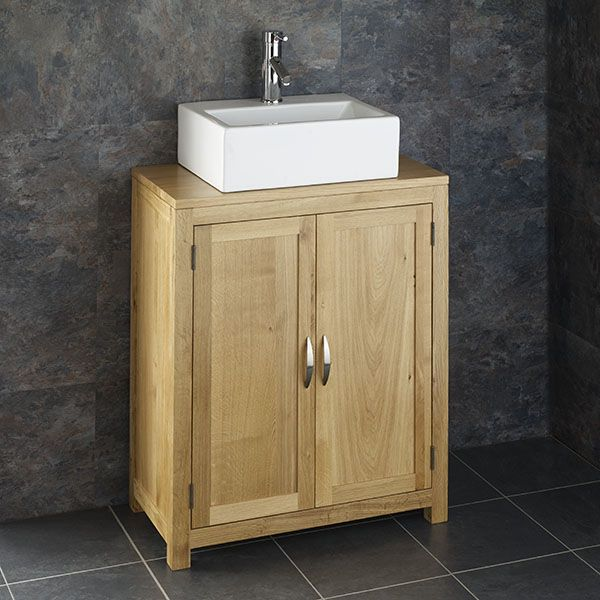 Phenomenal Narrow Door Oak Bathroom Vanity Cabinet 650Mm X 340Mm Rectangle Basin Set Alta65 Home Remodeling Inspirations Genioncuboardxyz