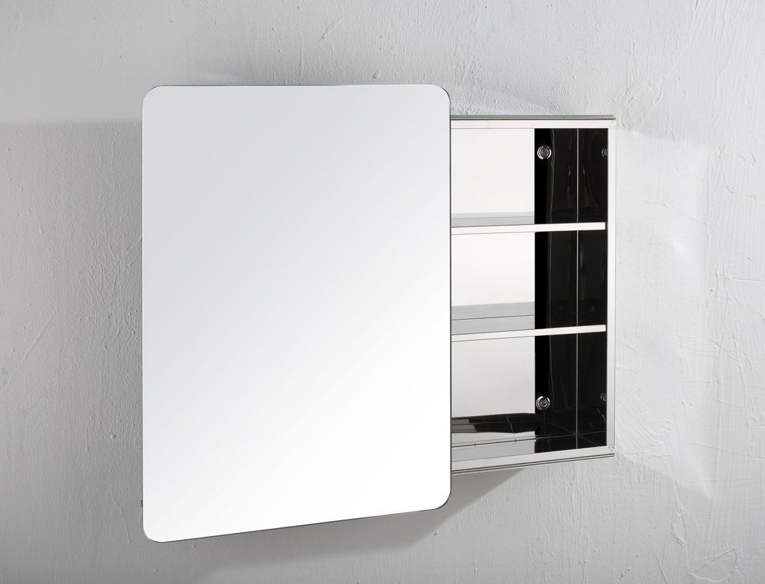 Stainless Steel Bathroom Corner Wall Mirror Cabinet Mc101: Valencia 660mm X 460mm Single Sliding Door Bathroom Wall