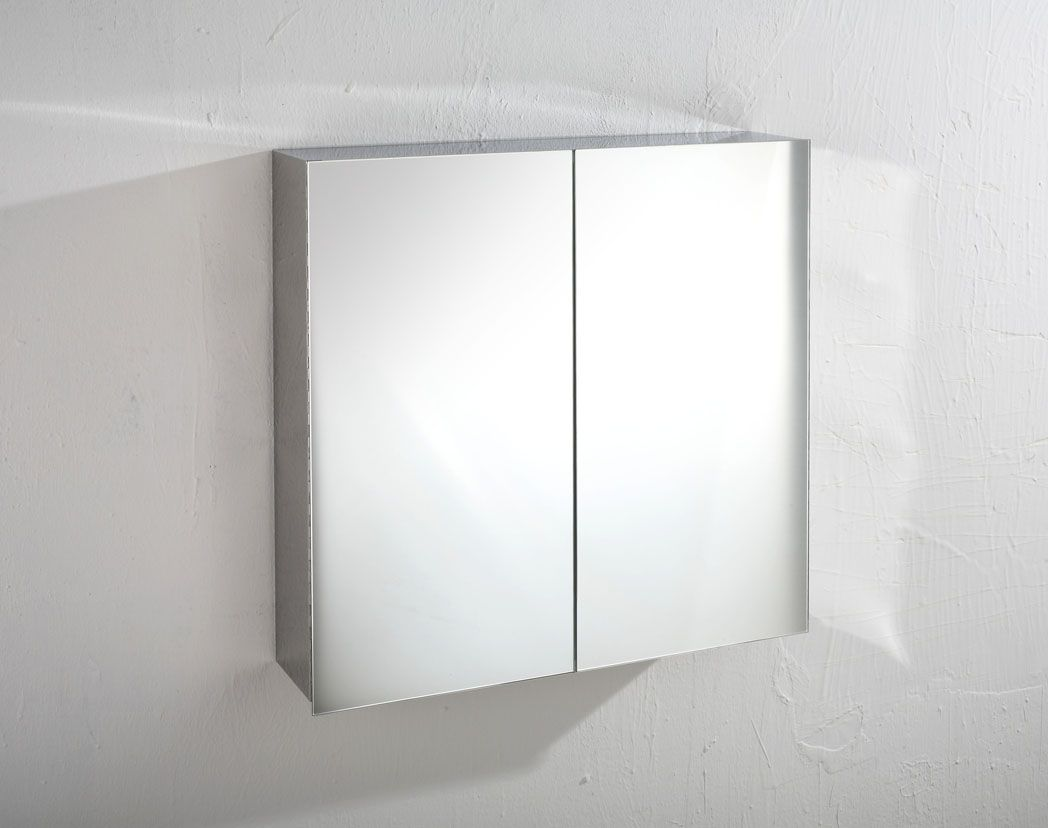 Madrid 610mm x 600mm double door mirror bathroom wall cabinet - Wall cabinet with mirror for bathroom ...