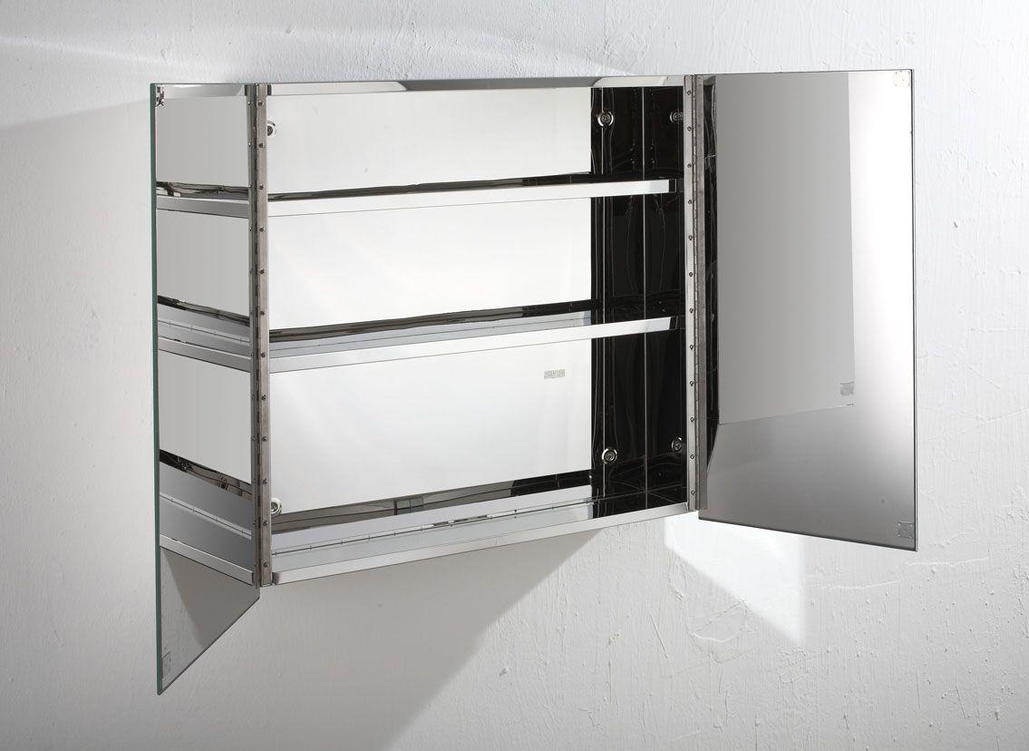 Madrid 610mm x 600mm double door mirror bathroom wall cabinet for Double door mirrored bathroom cabinet