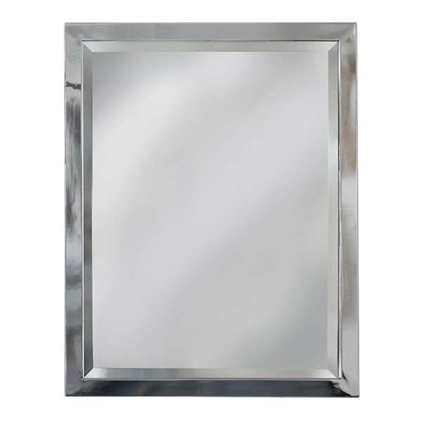 Hand Crafted Monte Stainless Steel Framed Square Bathroom Mirror