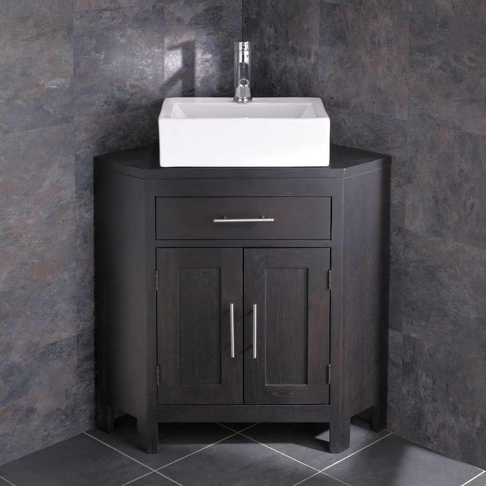 barletta sink alta large two door wenge oak corner vanity cabinet. Black Bedroom Furniture Sets. Home Design Ideas