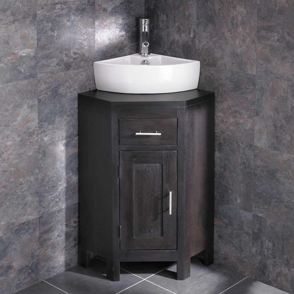 Olbia Corner Sink Alta Compact Wenge Oak Space Saving