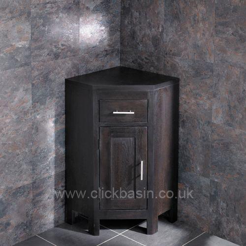 Round Frosted Glass Bowl Alta Wenge Oak Corner Cloakroom