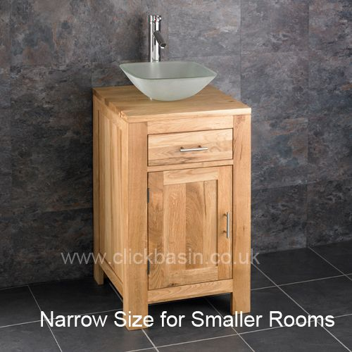 Surprising Square Oak Bathroom Small Vanity Unit Frosted Square Basin Set Alta45 Home Remodeling Inspirations Genioncuboardxyz