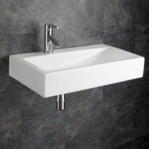 660mm X 380mm Large Rectangular Altomura Wall Hung Bathroom Washbasin