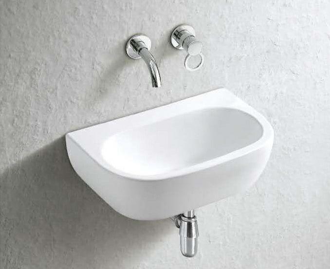 Wall Mounted Cannes 42cm X 28cm Rectangular Ceramic Sink