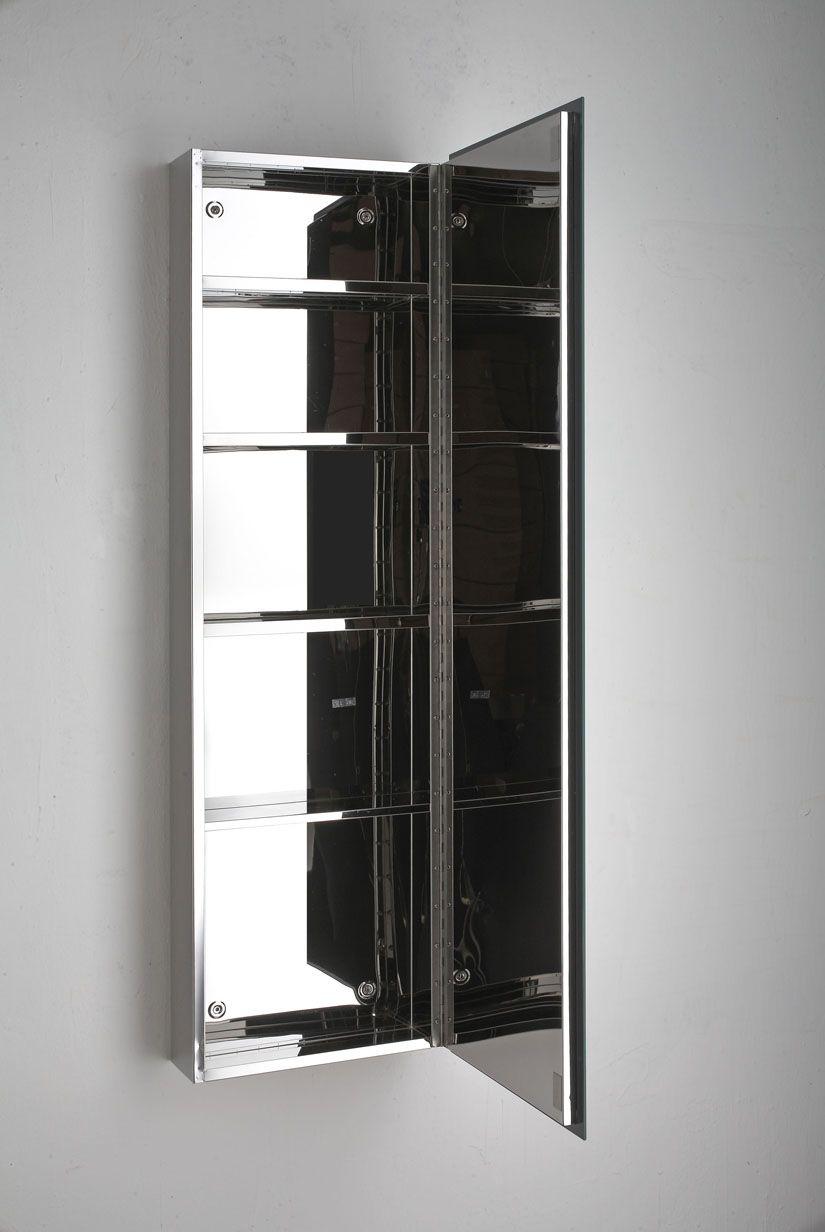 Quality Lille Single Door Tall Mirror Bathroom Cabinet
