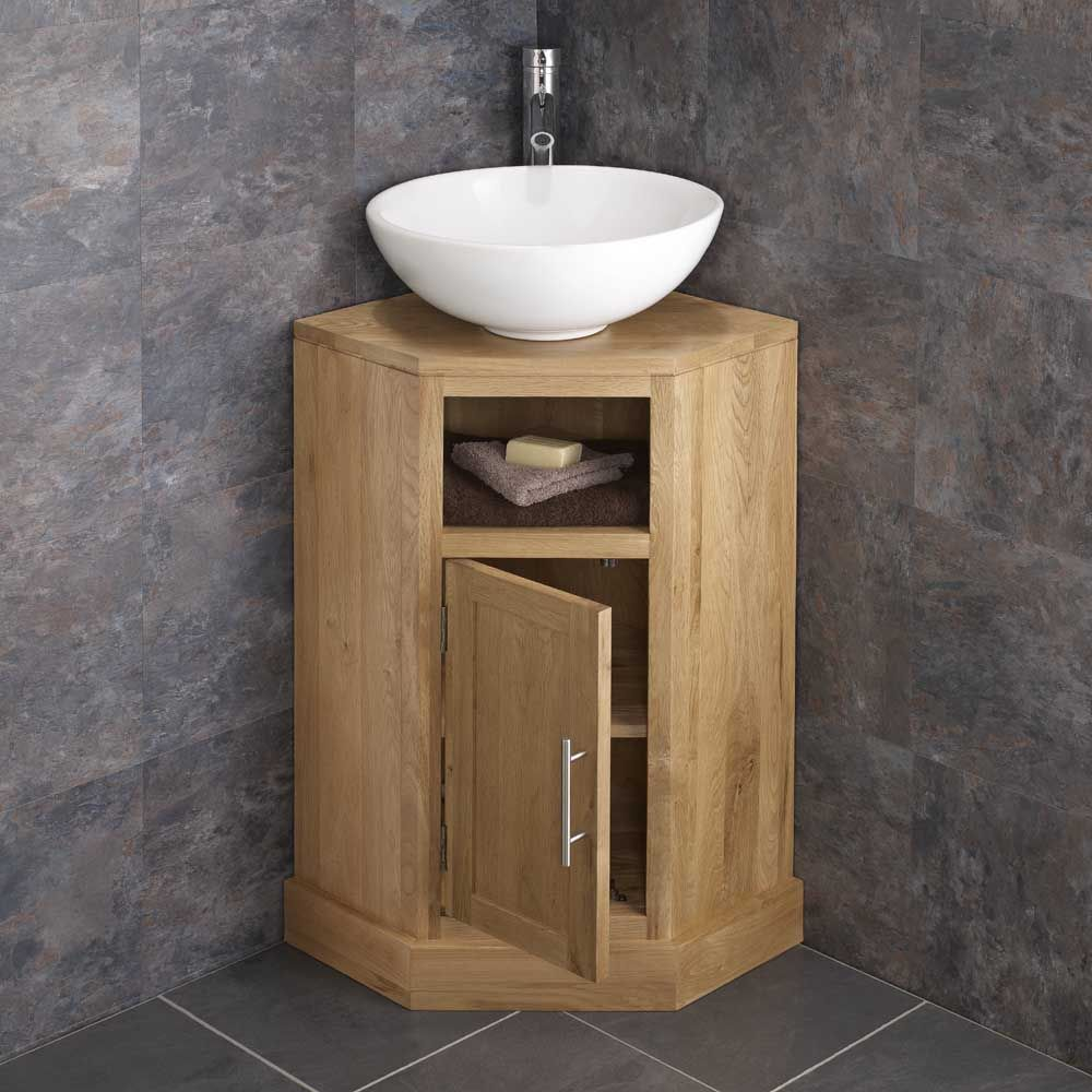 oak corner bathroom cabinet cube solid oak 1 door corner cloakroom storage cabinet 19768