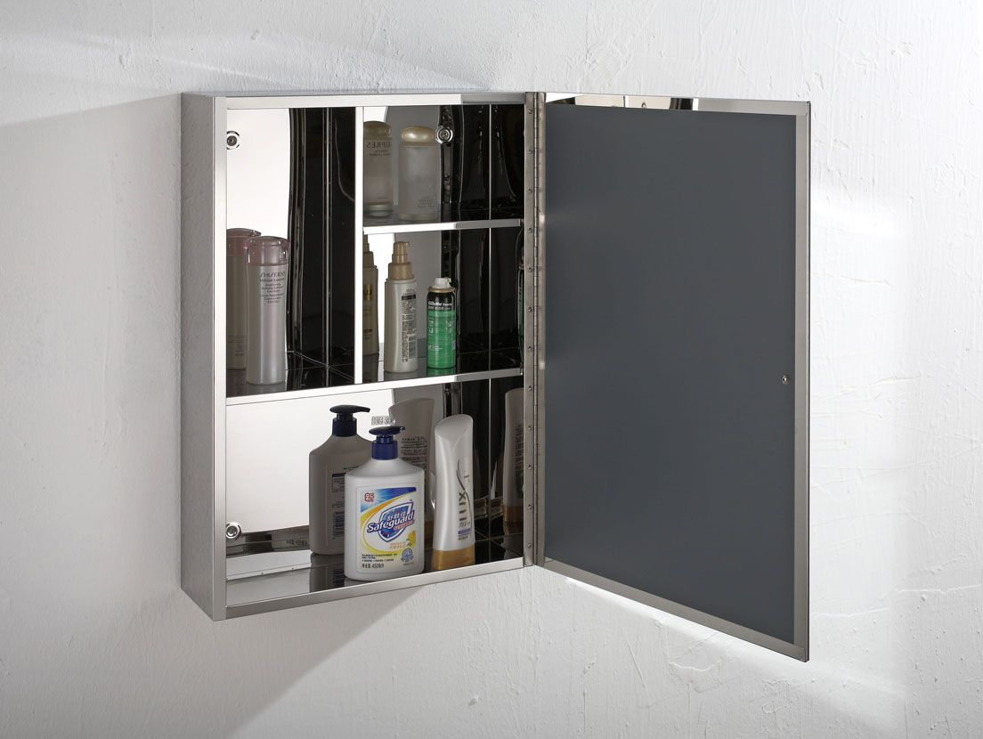 Monaco Mirror Door Bathroom Cabinet For Wall Mounting