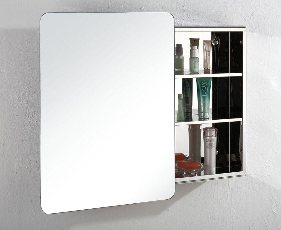 Valencia 660mm X 460mm Single Sliding Door Bathroom Wall Mirror Cabinet